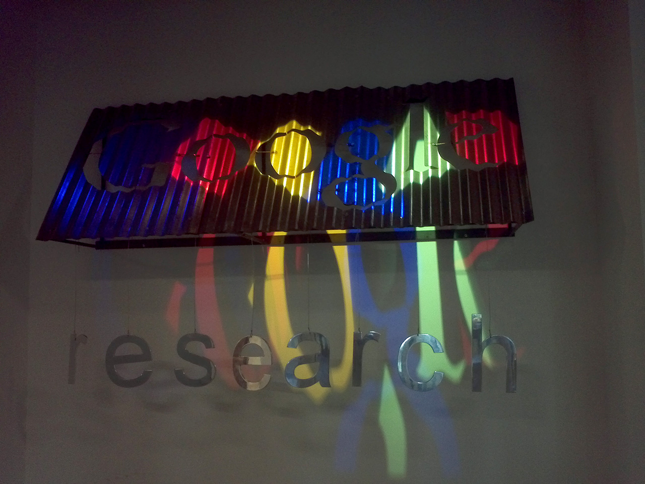 google research logo inside the building i was working in