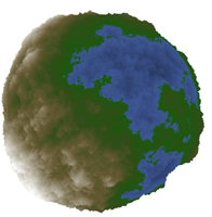 Random faults algorithm applied on the sphere.
