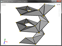Very complicated shape triangulated correctly.