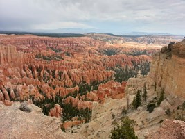 Typical spike structures in the Bryce Canyon.