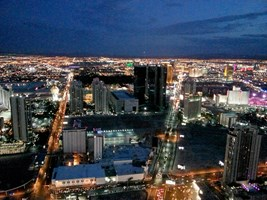 A look from top of the Stratosphere hotel in Las Vegas.