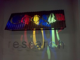 Google Research logo inside the building I was working in.