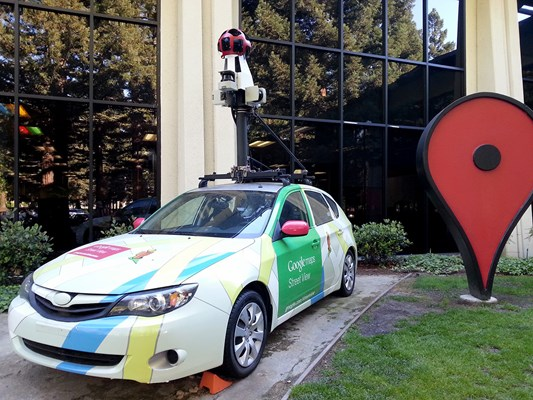 The latest generation of Google Street View car (2013). This car is more high-tech than you probably think!