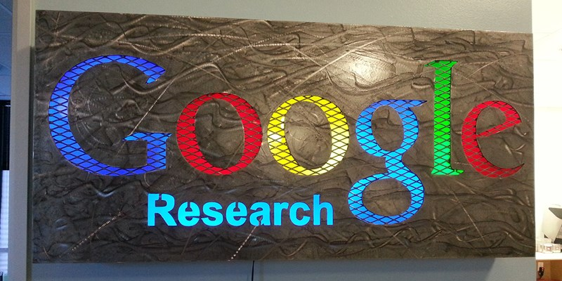 Google Research sign in the building I was working in.